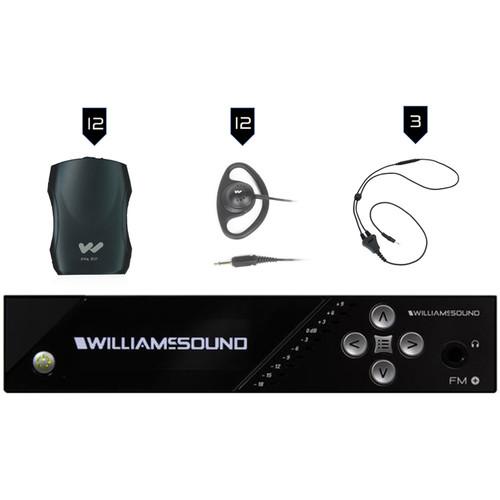 Williams Sound FM Plus Large-Area Dual FM/Wi-Fi Assist Listen Syst:12 FM R37 R:FM T55 T/4-PPA R37N/12-Ear 022