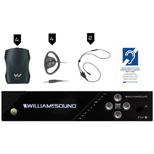 Williams Sound FM Plus Large-Area Dual FM/Wi-Fi Assist Listen Syst:4 FM R37 R:FM T55 T/4-PPA R37N/4-Ear 022