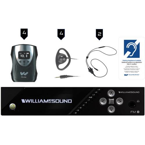Williams Sound FM Plus Large-Area Dual FM/Wi-Fi Assist Listen Syst:4 FM R38 R/FM T55/4 Pppa R38N/4 Ear 022