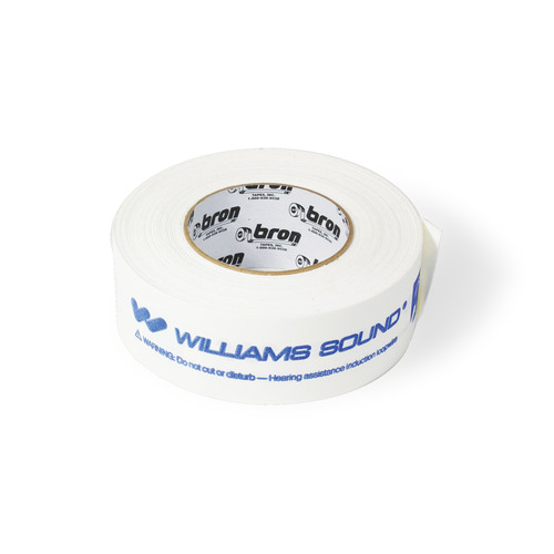 "Williams Sound FWT 001 2"" Flat Wire Tape (180' Roll, White)"