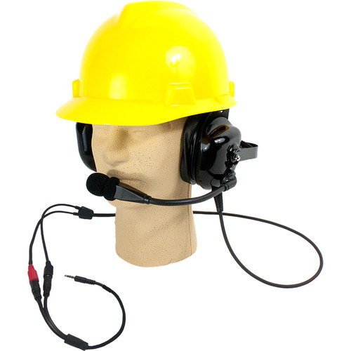 Williams Sound Dual-Muff, Hard-Hat Headset Microphone for DW DLT 400 Transceiver Only