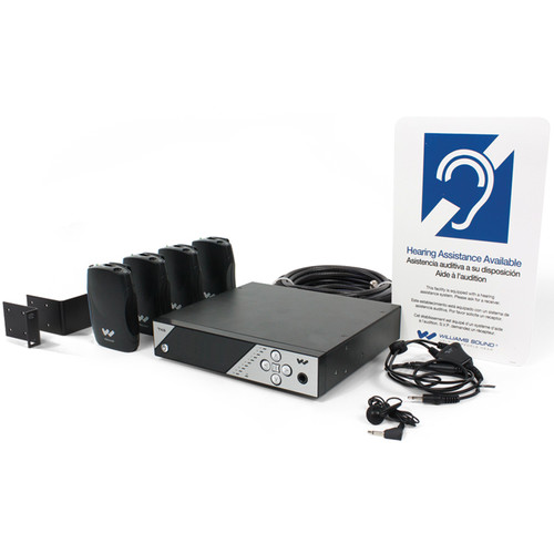 Williams Sound Personal PA Pro FM Listening System with PPA T45 NET D Transmitter & Four PPA R37 Receivers (Up to 1000')