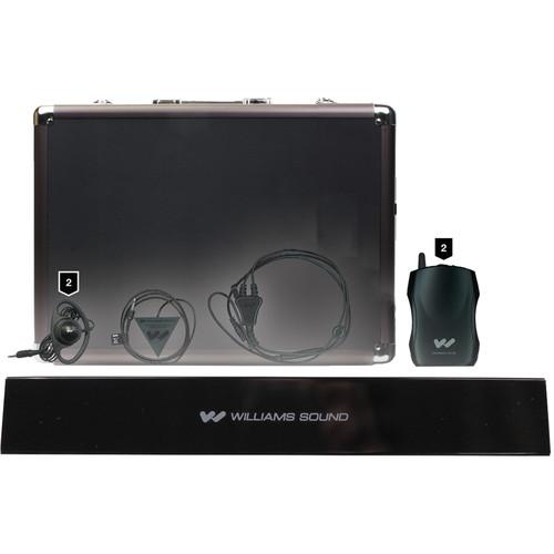 Williams Sound IR SY6 SoundPlus Medium-Area Wireless Infrared System with 2 Earphones & Microphone