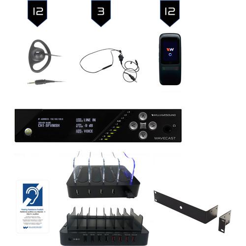Williams Sound Wi-Fi Assist Listen Syst 12/Dante In-WF T5 D/12 WF R1N/12 CCS 062/CHG 408 WF8