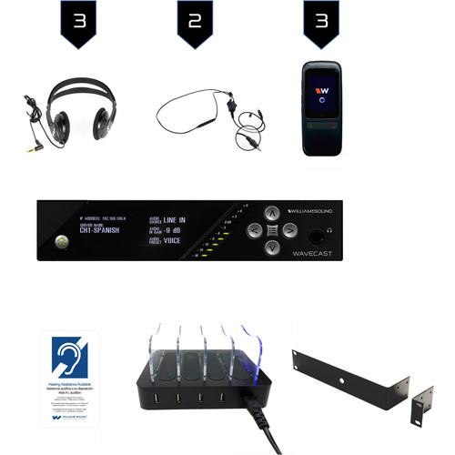 Williams Sound Wi-Fi Assist Listen Syst 3/Dante/WF T5 D/3 WF R1N/3 CCS 062/CHG 408 WF4