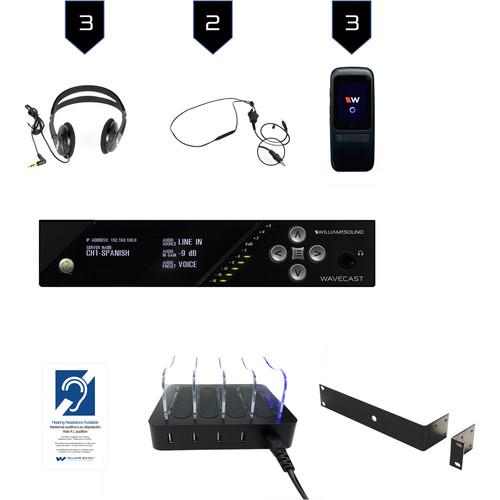 Williams Sound Wi-Fi Assist Listen Syst 3/WF T5 D/3 WF R1N/3 CCS 062/CHG 408 WF4