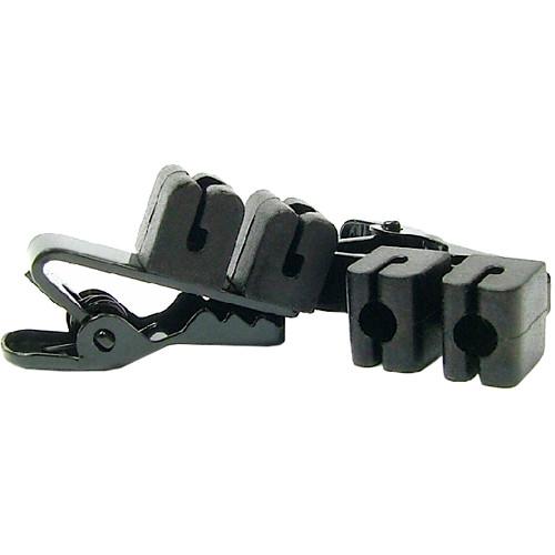 WindTech TC-12 Dual-Lavalier Microphone Tie Clips (2-Pack, Black)