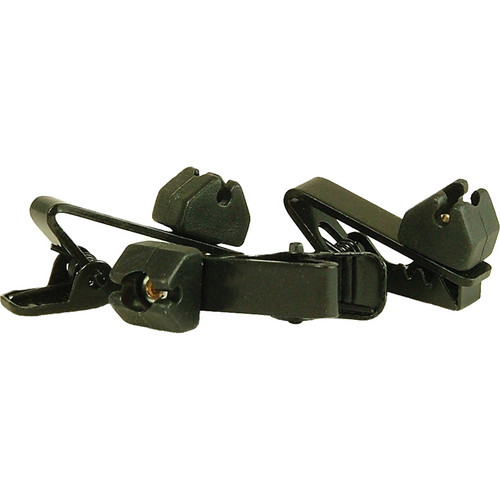 WindTech TC-9 Soft Mount Rotating Tie Clips (3-Pack, Black)