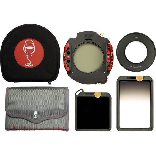 Wine Country Camera 100x100mm Starter 3-Filter Kit/ Polarizer/ND 6 Stop/ Grad ND 2-Stop SE/ Holder/ 72mm Adapter