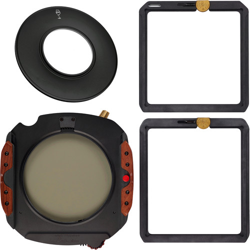 Wine Country Camera 150mm Filter Holder Kit with 72mm Adapter Ring, Drop-in Circular Polarizer Filter, 150 x 150mm Blackstone IRND 1.8 Filter (6-Stop) and 150 x 170mm Blackstone Soft-Edge Graduated IRND 0.6 Filter (2-Stop) w/Filter Vaults
