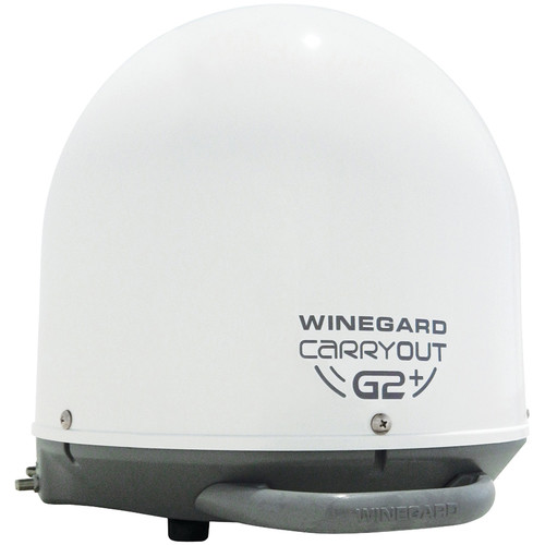 Winegard GM-6000 Carryout G2+ Automatic Portable Satellite TV Antenna with Power Inserter (White)