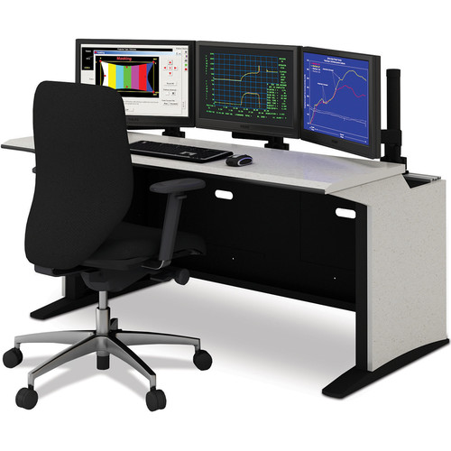 """Winsted E-SOC Control Station with Articulating Monitor Mounts (60"""", Black)"""