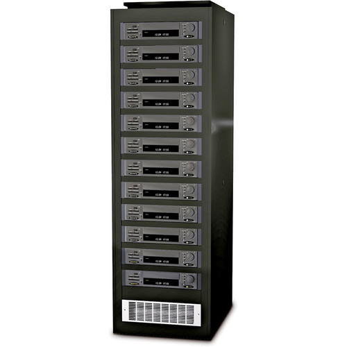 Winsted V9019 Pro Series II DVRack - 45RU DVR Rack with Filtered Fan (Vented Side Panels)