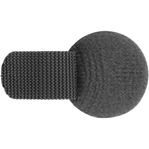 Wireless Mic Belts Cable Discs Cable Management Tabs (Black, Set of 20)