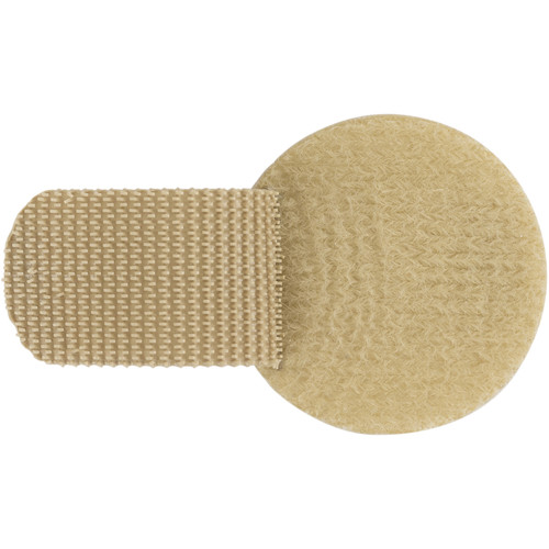 Wireless Mic Belts Cable Discs Cable Management Tabs (Tan, Set of 20)