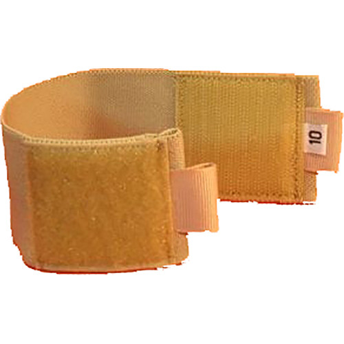 "Wireless Mic Belts 10"" Ankle Belt for Wireless Transmitters and Receivers (Tan)"