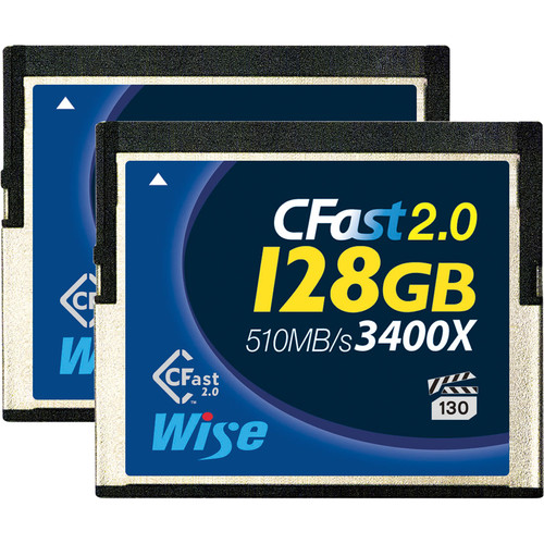 Wise Advanced 128GB CFast 2.0 Memory Card (2-Pack)