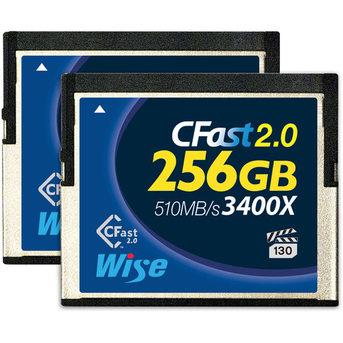 Wise Advanced 256GB CFast 2.0 Memory Card (2-Pack)