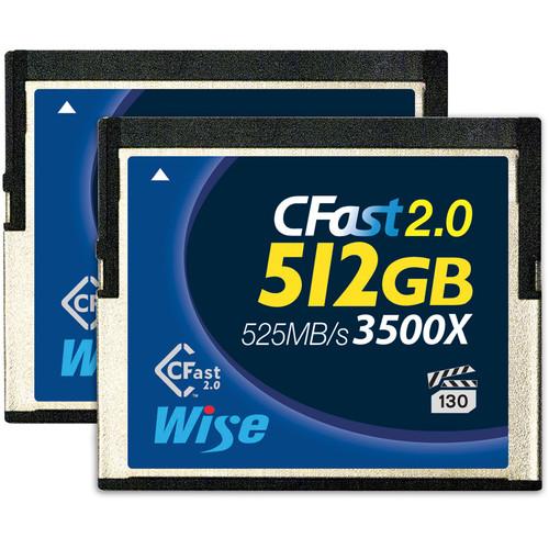 Wise Advanced 512GB CFast 2.0 Memory Card (2-Pack)