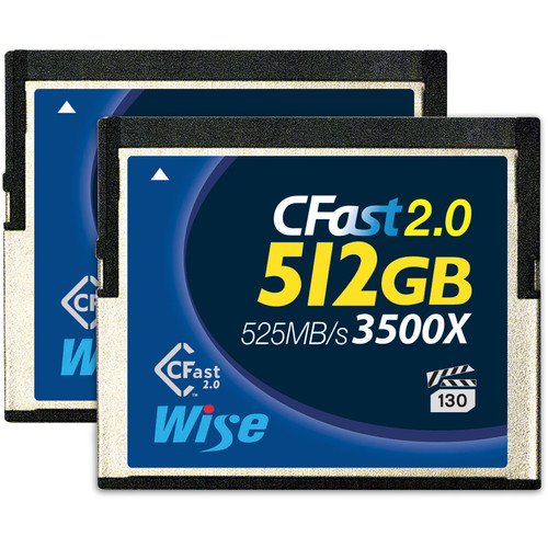 Wise Advanced 512GB CFast 2.0 Memory Card (2-Pack)