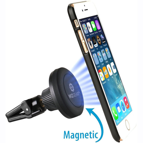 WizGear Universal Twist-Lock Magnetic Car Vent Mount for Smartphones