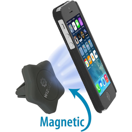 WizGear Universal Magnetic Star-Shaped Air Vent Mount for Smartphones