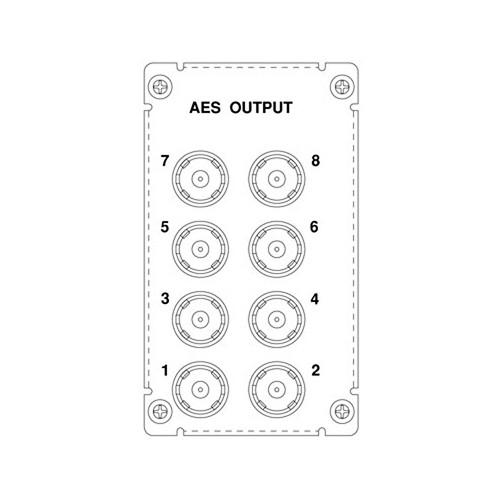 Wohler 8-Pair AES Audio Output Module (16 Channels)