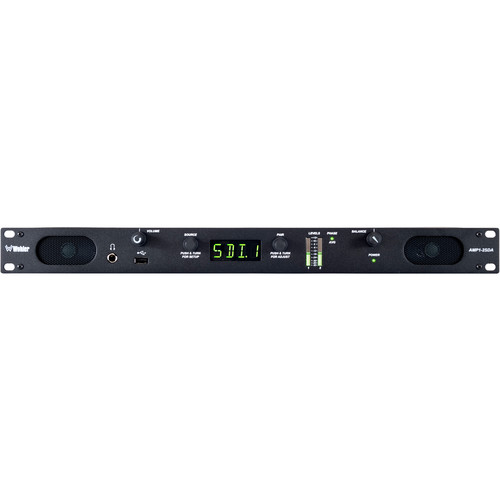 Wohler AMP1-2SDA+ 2-Channel Stereo Monitor with 3G/HD/SD-SDI, AES, and Analog Inputs with Additional Inputs (1 RU)