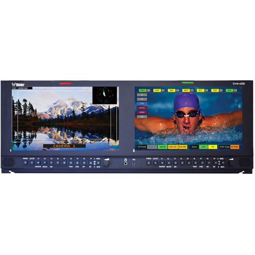 Wohler DVM-4290 Dual Screen MPEG Monitor