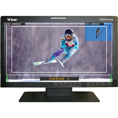 "Wohler HDM-215-3G-TT 21.5"" Dual Split Screen High Definition LCD Monitor"