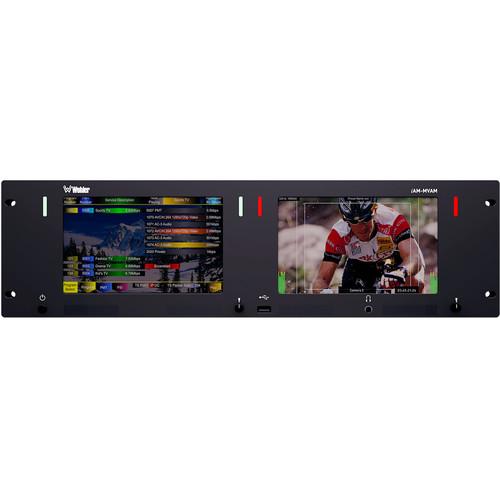 "Wohler iAM-MVAM Series MPEG ASI/IP TS & 3G/HD/SD-SDI LED-Backlit Dual Monitor (7"")"