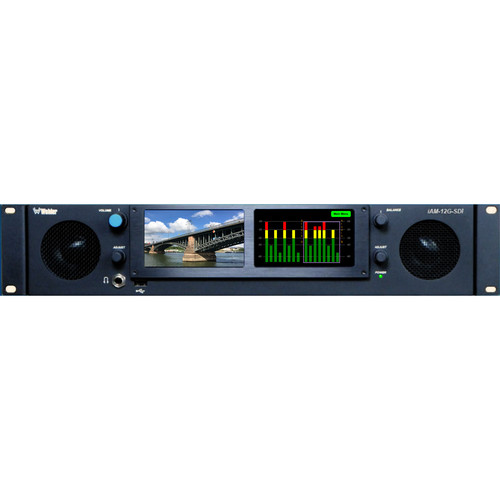 Wohler Multichannel Audio and 12G/4K Video Monitoring & Metering of IP and Baseband Signals (2 RU)