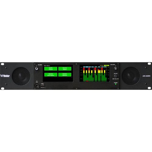 Wohler Multi-Channel Touch-Screen Audio Monitor with Analog Interface (2 RU)
