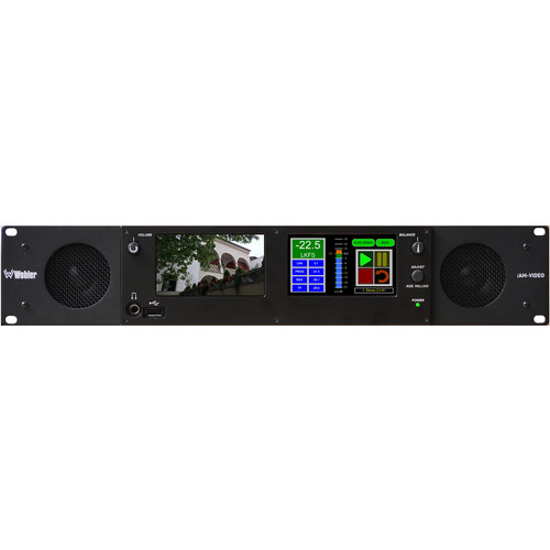 Wohler Multi-Channel Touch-Screen Audio Monitor with Dante Interface (2 RU)