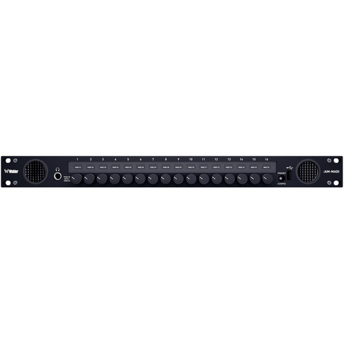 Wohler Multi-Source Mixing Audio Monitor with Analog Interface (16 Output Controls, 1 RU)