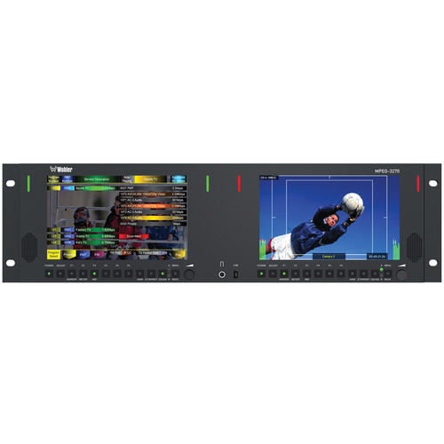 "Wohler Dual 7"" LCD MPEG Rackmount Video Monitor"