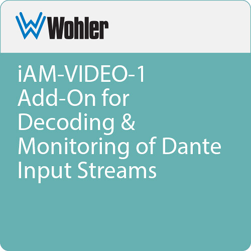Wohler iAM-AUDIO-1 Add-On for Decoding & Monitoring of Dante Input Streams