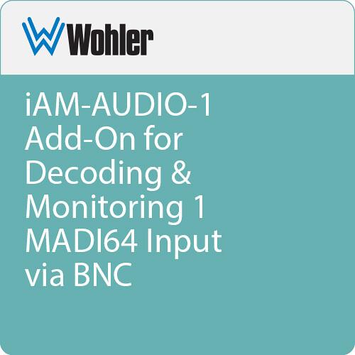 Wohler iAM-AUDIO-1 Add-On for Decoding & Monitoring 1 MADI64 Input via BNC