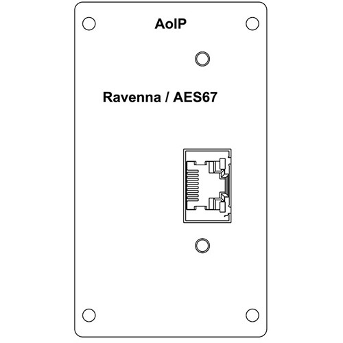 Wohler Ravenna Input Module with RJ-45 for AMP2-16V Audio/Video Processing Monitor