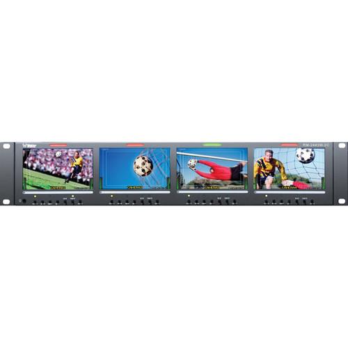 "Wohler RM-2443W-2C Quad 4.3"" CVBS Video Monitor"