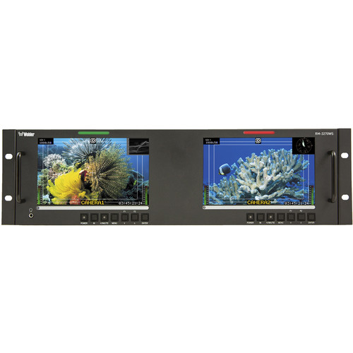 "Wohler RM-3270WS-3G2 Dual 3G/HD/SD-SDI Video Monitor (7"")"