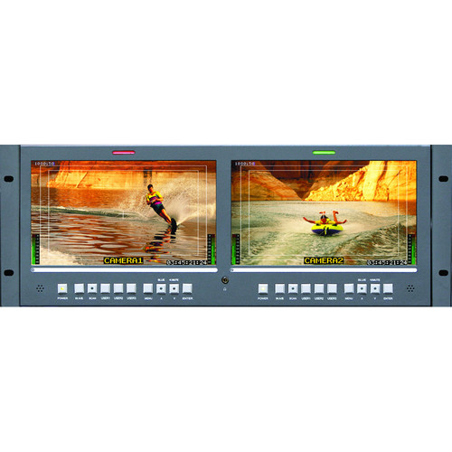 "Wohler RM-4210-WS-3G2 Dual 10"" LCD Rack Mount 3G-SDI Monitor with Dual Inputs"