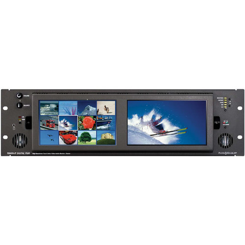 "Wohler Touch-it Plus Dual 7"" High-Resolution LCD Video Display/Router"