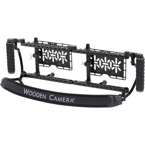 Wooden Camera Dual Director's Monitor Cage v2 with Rubber Grips