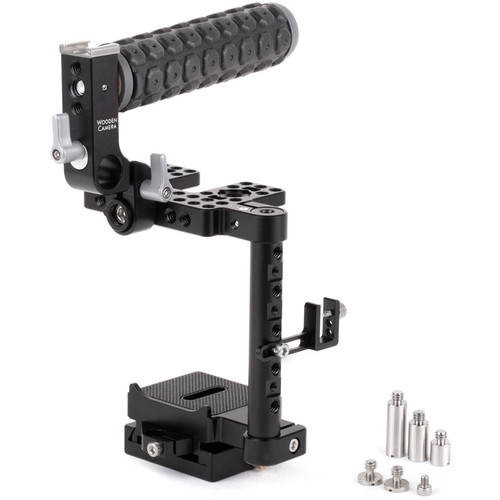 Wooden Camera Unified DSLR Cage with Rubber-Grip Handle (Small)