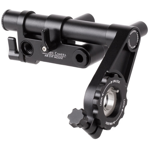 Wooden Camera AIR EVF Mount with Friction Knuckle & 15mm Rods for RED DSMC2 EVF