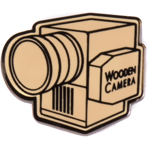 Wooden Camera Lapel Pin