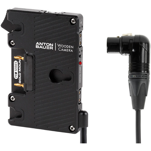 Wooden Camera - WC Pro Gold Mount (4Pin XLR RiGHt Angle)