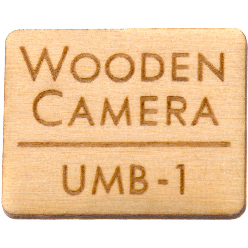 Wooden Camera Replacement Wooden Logo Badge for UMB-1 Matte Box Main Plastic Shell