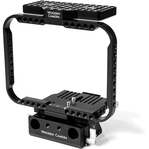 Wooden Camera Quick Cage for Blackmagic Cinema Camera with 15mm Lightweight Rod Clamp
